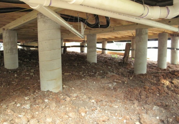Свайный фундамент под каркасный гараж своими руками 70