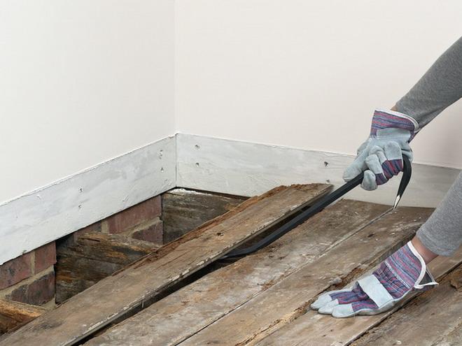 Как отремонтировать старый деревянный пол своими руками 46