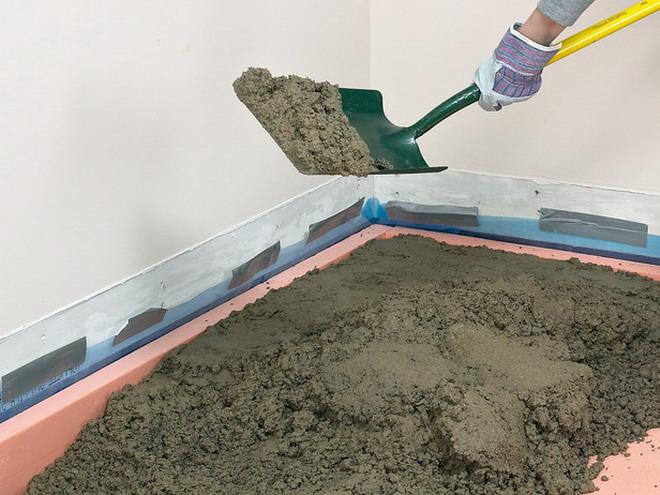 Как сделать бетонные полы в частном доме по грунту 915