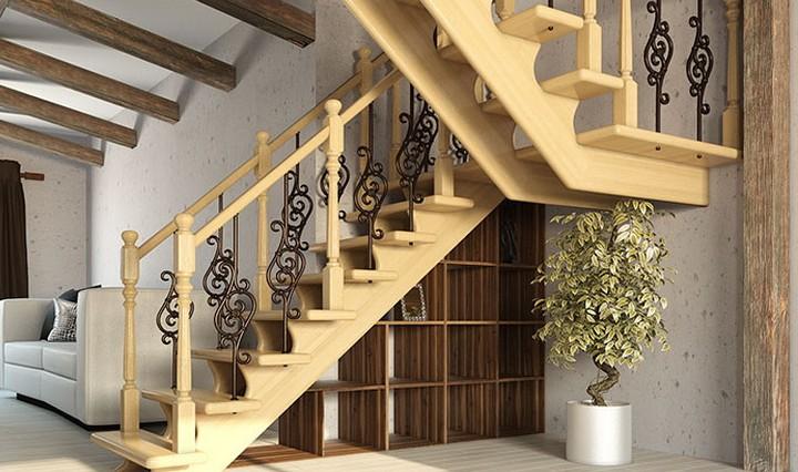 Монтаж деревянная лестница своими руками
