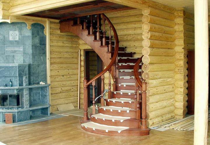 Как сделать деревянную лестницу в деревянном доме
