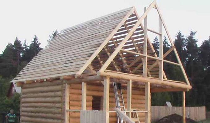 Двухскатная крыша своими руками крыша фото