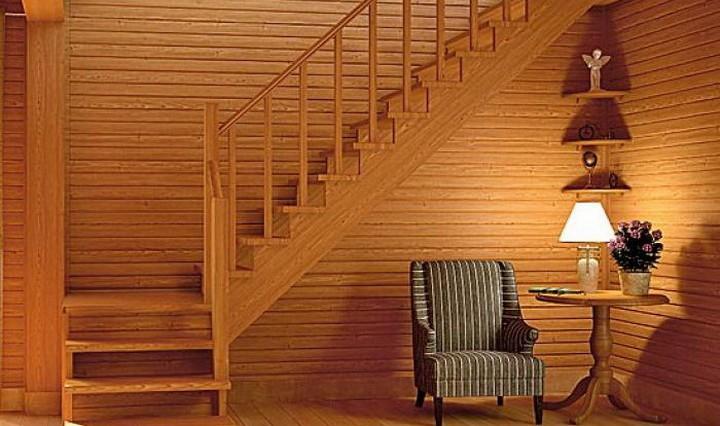 Как построить деревянную лестницу на второй этаж 59