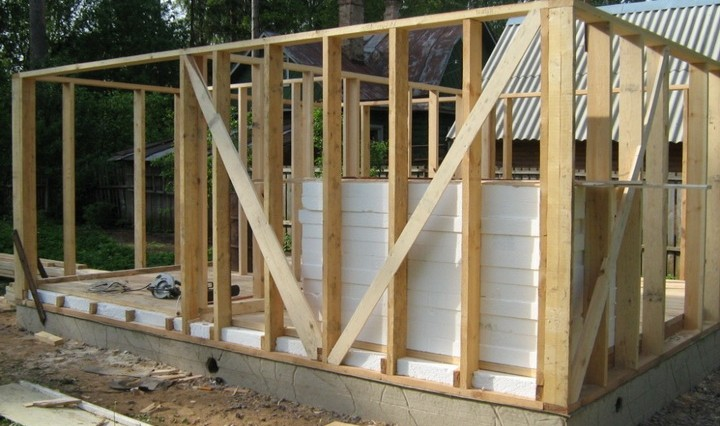 Gradnja okvirjev hiše naredi sam video