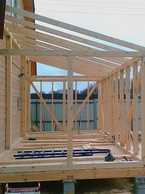 Односкатная крыша на даче своими руками фото 410