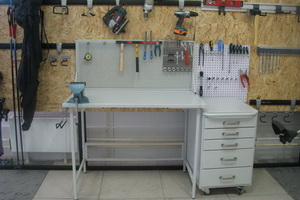 Шкаф с выдвижными ящиками для инструментов своими руками