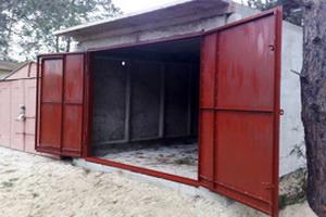 Железные ворота гаража своими руками цена металлический гараж в украине