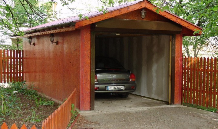 Проект двухскатной крыши гаража
