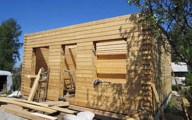 Как я построил дом из бруса своими руками видео