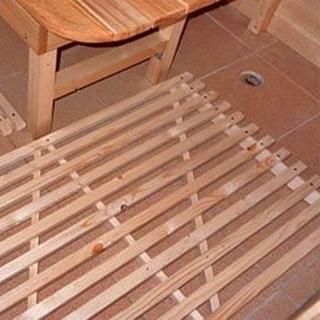 Утепленный пол в бане со сливом
