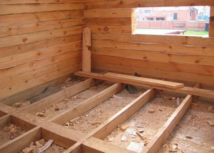 Как самому построить пол в деревянном доме