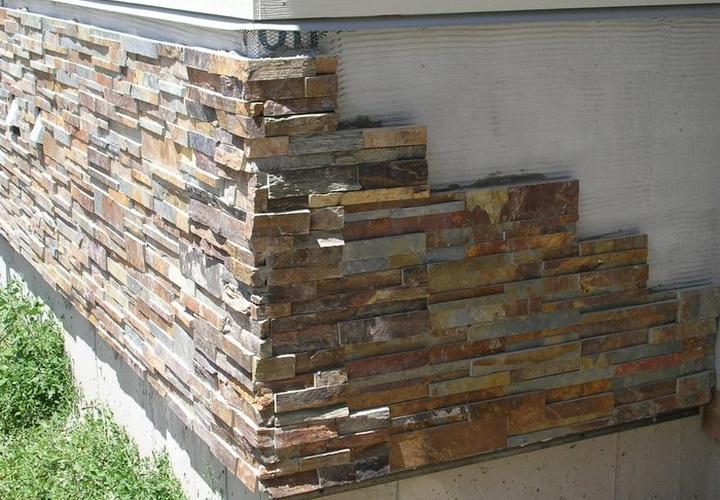 Фасад из декоративного камня своими руками 36
