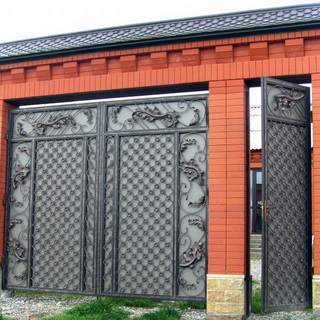 ворота своими руками из металла фото