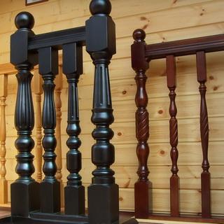 Резные столбы для лестниц - Строим лестницу в частном доме