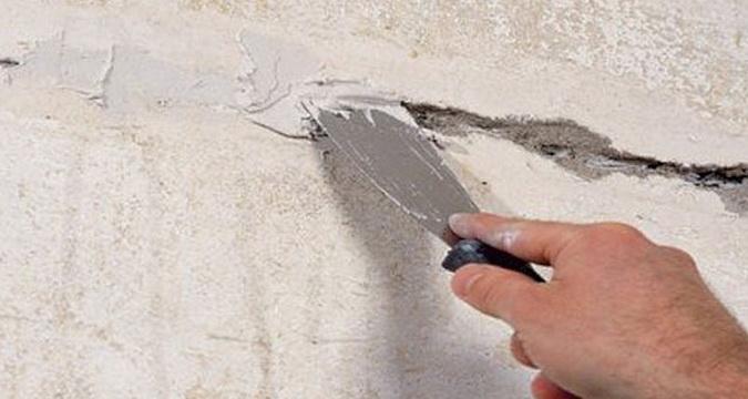 Заделать трещины цементным раствором купить бетон в лесколово
