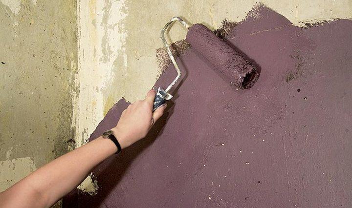 как красить цементным раствором стены